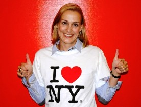Meike Hebeler im New York T-Shirt